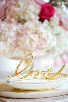 Gold calligraphy LOVE