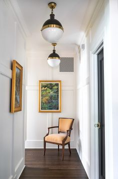 Entry Hallway, Interior Decorating, Interior Design, Tudor, Tiffany, Gallery Wall, Ceiling Lights, Street, Lighting