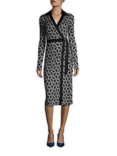 Diane von Furstenberg - Long Sleeve Silk Wrap Dress