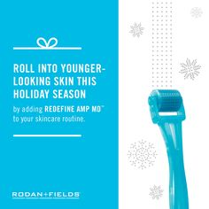 The holiday party circuit is just around the corner and with a little pre-planning, your skin can be glowing before the first invitation of the season arrives. Our clinical studies show that daily use of our cosmetic, non-invasive micro-exfoliating roller, REDFINE AMP MD™, in conjunction with the retinol and peptides found in the REDEFINE Night Renewing Serum, can help you achieve visibly firmer, younger-looking skin. #skincare #beauty #roller #youngerskin
