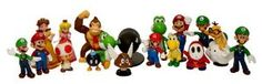 """Super Mario Brothers: 2"""" Mini Figures Set of 18  Order at http://www.amazon.com/Super-Mario-Brothers-Mini-Figures/dp/B0032XV5DS/ref=zg_bs_toys-and-games_80?tag=bestmacros-20"""