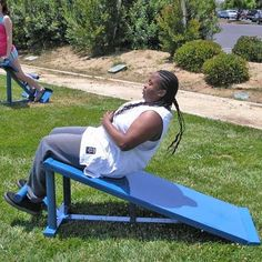 E-Line Sit-Up Board- TriActive America E-LIne sit-up board, exercise equipment, outdoor fitness equipment. #fitness #exercise #healthy