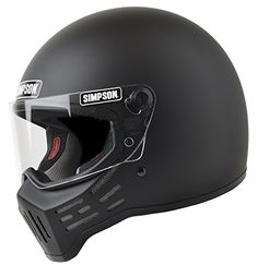 Simpson Helmets - M30 DOT Approved Helmet - Matte Black