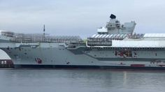 Tour the Royal Navy's largest ever warship - BBC News