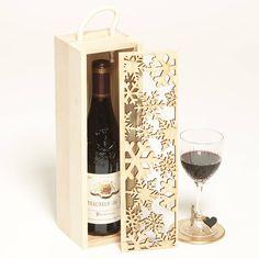 lasercut snowflakes bottle box, sophia victoria joy, £24.95, noths