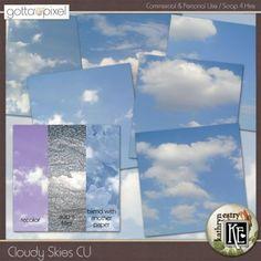 Cloudy Skies Digital Scrapbook CU. $3.99 at Gotta Pixel. www.gottapixel.net/