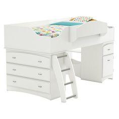 Imagine Storage Loft Kids Bed - White (Twin) : Target