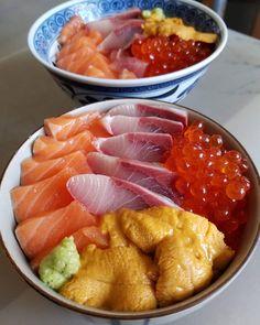 Coloful & Flavorful Chirashi Bowl ⛩ #japanesefood #chirashi