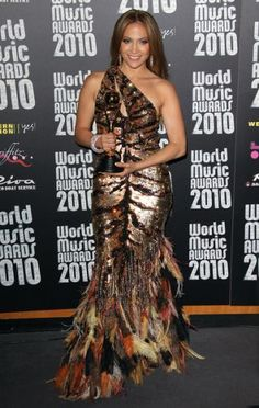 Jennifer López In Roberto Cavalli - World Music Awards 2010