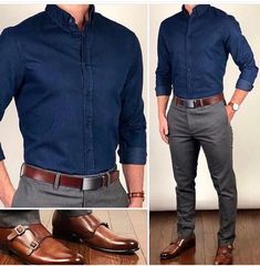 46 Stylish Formal Men Work Outfit Ideas To Change Your Style - Männer Mode - Outfits Formal Men Outfit, Men Formal, Mens Formal Shirts, Casual Outfit For Men, Work Outfit Men, Mens Semi Formal Wear, Black Shirt Outfit Men, Semi Formal Outfits, Formal Dresses For Men