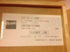 Jonathan Richman. Café de la danse. Paris