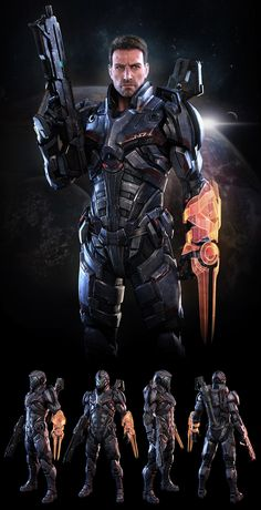 Mass Effect N7 Soldier ( fan art ) by 3dsquid...though this is a game and fictional I'm looking at the armor, nothing else