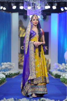 pakistani bridal dresses | Pakistani Latest Multi Color Bridal Mehndi Dresses 2013 9