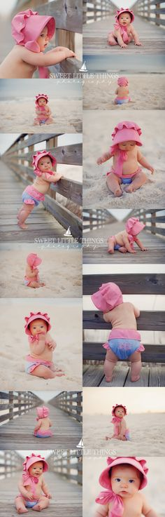 Gulf Shores & Orange Beach Photographer | Baby Beach Session | Sweet Little Things Photography The Beaufort Bonnet Company #gulfshores #orangebeach #photographer #photography #beachportraits #beaufortbonnet #thebeaufortbonnetcompany