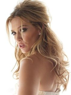 Hilary Duff with a dreamy half up half down bridal look