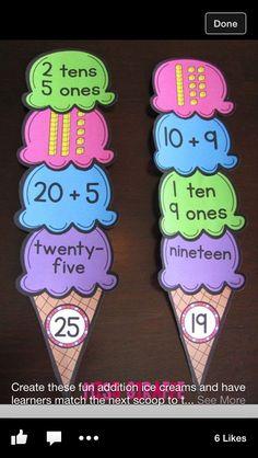 Grade Math Ideas for the Entire Year! Place value activities & First Grade Math Ideas for the Entire Year!Place value activities & First Grade Math Ideas for the Entire Year! Second Grade Math, First Grade Classroom, Math Classroom, Kindergarten Math, Teaching Math, Grade 1, Fun Math, Math Games, Math Activities