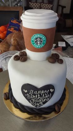 STARBUCKS COFFEE cup cake topper and coffee by Rockiiescreations, $19.99