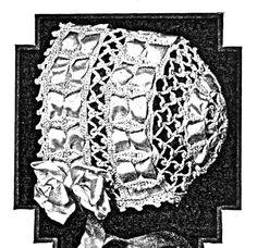 Lace crochet baby bonnet PDF pattern 1919 For a by KnittyDebby, $2.79