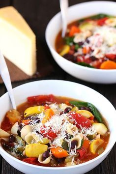 Minestrone Soup and 31 Days of Fall and Winter Soups on Frugal Coupon Living plus Gourmet Grilled Cheese.