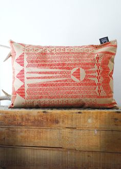 Useful and beautiful.  Might look nice with the charcoal stripe washed linen bedding.  Screen printed pillow from Bark Decor