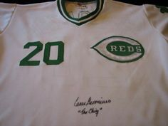 """Cesar Geronimo""""The Chief"""" Show Signed Reds St. Patricks Day Jersey-w/Show Cert."""