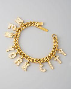 New York City Charm bracelet by Eddie Borgo