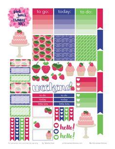 Planner & Journaling Printables ❤ Free Strawberry Shortcake Stickers