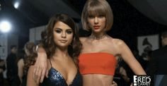 Pin for Later: From Taylor Swift's Freakout to Chrissy Teigen's Dance Moves, See All the Best Grammys Moments Taylor Swift and Selena Gomez straight-up slayed the red carpet together.