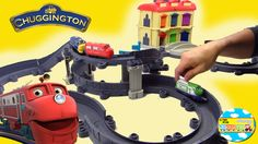 Chugginton Die Cast Toy Review Train Station and Curves Track playset Pi...