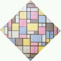 Piet Mondrian: Composition with Grid VII