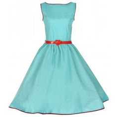 Audrey Turquoise Swing Dress | Vintage Inspired Fashion - Lindy Bop