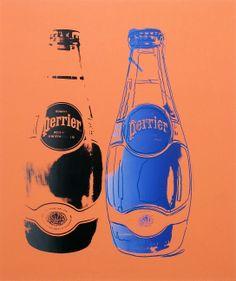 Perrier. 1983. Acrílico e tinta para serigrafia sobre linho. Andy Warhol (Pittsburgh, PA, USA, 06/08/1928 - 22/02/1987, Nova York, NY, USA).