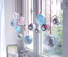 Weihnachtskugeln als Fensterdeko - Stimmungsvolle Weihnachtsdeko 4 - [LIVING AT HOME]