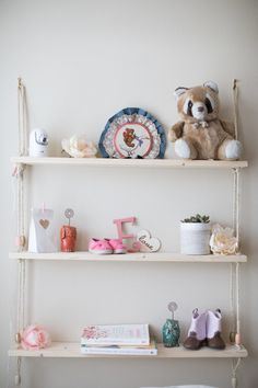 Diy Rope Shelves Blush Nursery Shelving