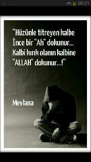 Hüzün! Allah'ın zarif gönüllere bir lütfudur. Quotations, Qoutes, Islam Muslim, Sufi, Meaningful Words, Karma, Allah, Poems, Robot