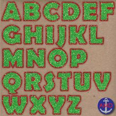 MERRY CHRISTMAS GLITTER, RED & GREEN DIGITAL ALPHABET CLIP ART MEGA PACK - TeachersPayTeachers.com