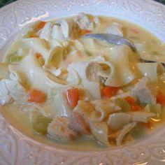 Creamy Chicken Noodle Soup (crock pot - no canned soup)