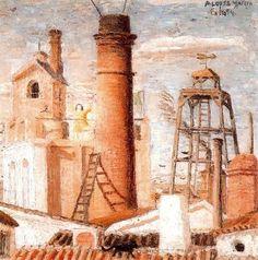 La fábrica. 1954. Obra de Antonio López García