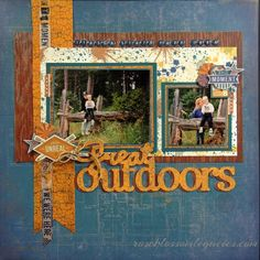 I love this layout from Rose Blossom Legacies: Rose Blossom Blog Hop - Our Favorite Stamp Sets