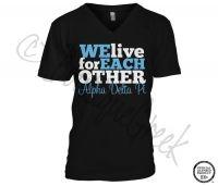 Alpha Delta Pi We Live Tee - ΑΔΠ Collection. Design Exclusive to BoutiqueGreek.com