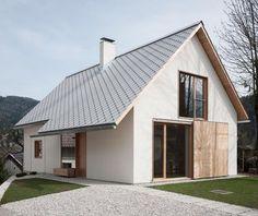 Living in Alpine Village / Skupaj Arhitekti - architecture and design Gable House, House Roof, Gable Roof, Architecture Renovation, Architecture Design, Contemporary Architecture, Alpine House, Villa Plan, Alpine Village