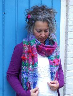 No felt but a woven scarf from my own handspun wool!!! www.facebook.com/AtelierRozevilterije
