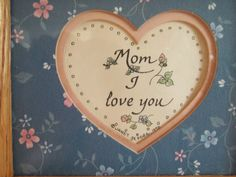 I love you Gift for Mom 1990 Heart Pic Art by SuzyQsVintageShop, $8.00