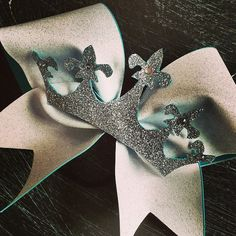 Glitter cheer bow with the glitter crown and rhinestones by bragaboutitcheerbows. Explore more products on http://bragaboutitcheerbows.etsy.com