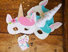 Unicorn masks from a Pastel Unicorn Birthday Party on Kara's Party Ideas | KarasPartyIdeas.com (19)