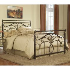 I love love love this bed!!! Lucinda Sleigh Bed It's all set up and looks gorgeous!