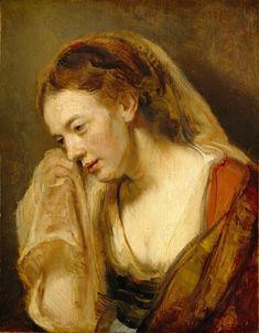 Rembrandt van Rijn - Huilende vrouw