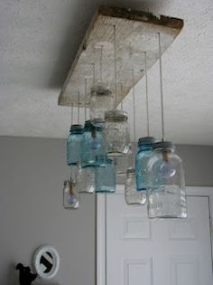 Jar hanging lights