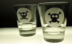 Set Of Two Skull and Cross Boanes Custom by Tinkeringproductions