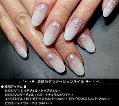 【楽天市場】ネイルアートレシピ> ネイルアートレシピ2011> 清楚系グラデーションネイル:Nail shop Beauty Works